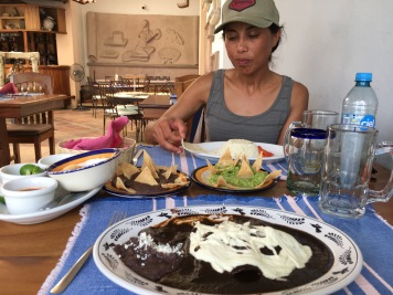 Mole dinner at Sabor a Oaxaca.